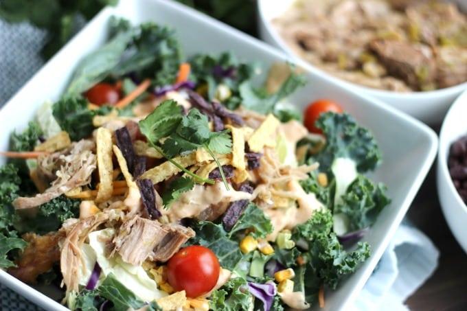 Chipotle Ranch Pork Salad