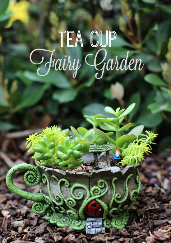 fairy garden that will fit in the palm of your hand. This teacup fairy ...