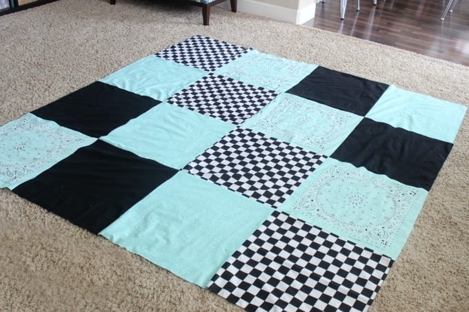 finished bandanna blanket quilt top