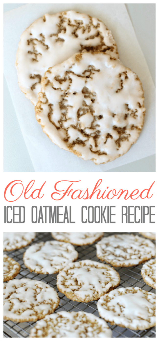 Old fashioned iced oatmeal cookies are the perfectafter school treat with a glass of milk. Use our iced oatmeal cookie recipe to create crispy and chewy cookies that are dipped in a creamy vanilla icing. This recipe can be used for ice cream sandwichcookies too!