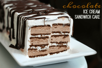 Chocolate Ice Cream Sandwich Cake: So Easy & Good!
