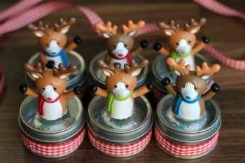 Reindeer Candy Tins