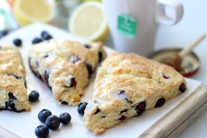 Blueberry Scones With Lemon Icing