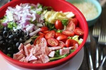 Chopped Italian Salad & Macaroni and Cheese