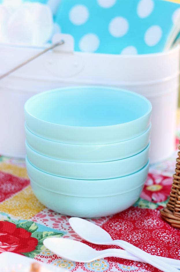 ice cream cookie sundae bowls