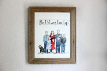 Family Watercolor Portrait GIVEAWAY! {Whitney Daynes Designs}