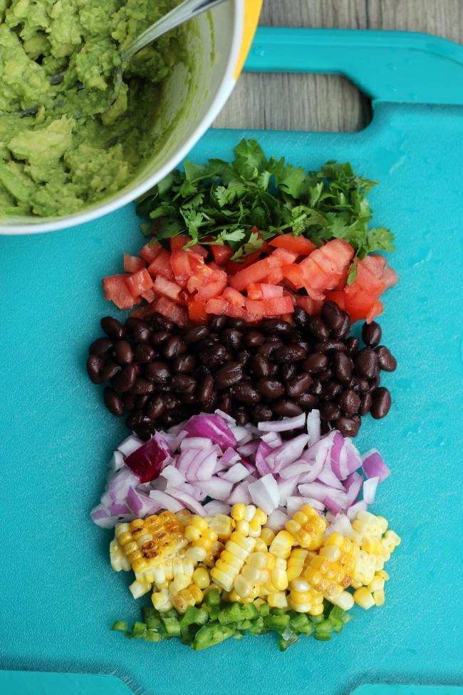 Corn & Black Bean Guacamole Recipe | Gluesticks