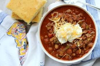 Slow Cooker Turkey & Sausage Chili
