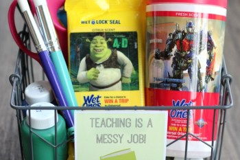 Teaching Is a Messy Job: Back to School Teacher Gift Idea