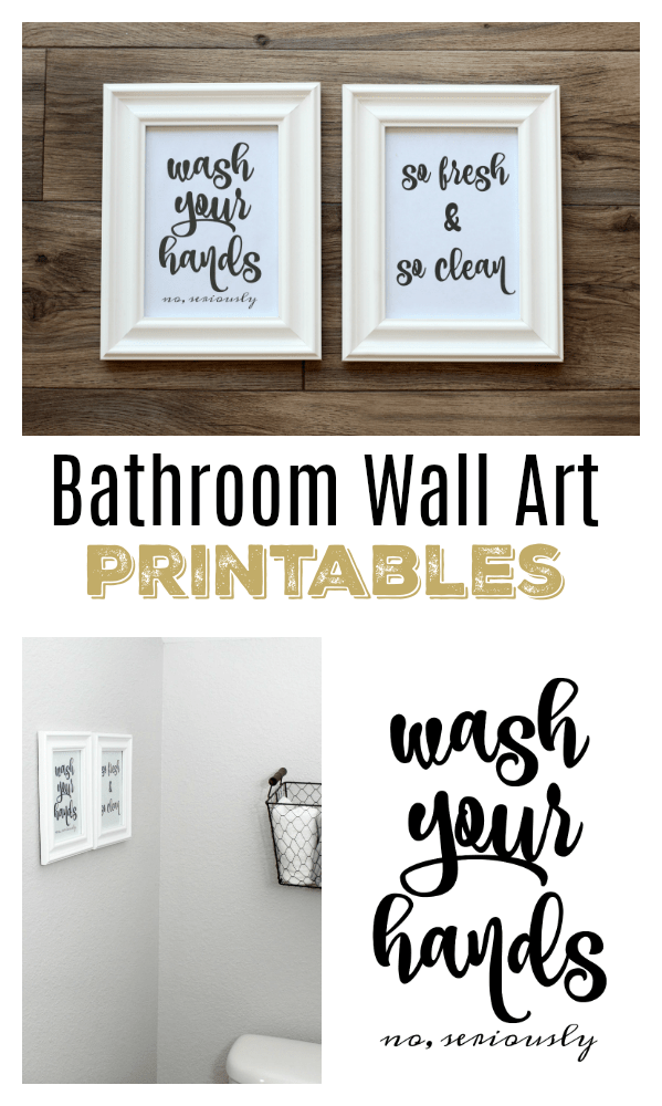 Free printables for the bathroom. Several sets to choose from and ready to download and  sc 1 st  Gluesticks & Bathroom Wall Art Free Printables to Easily Print and Hang