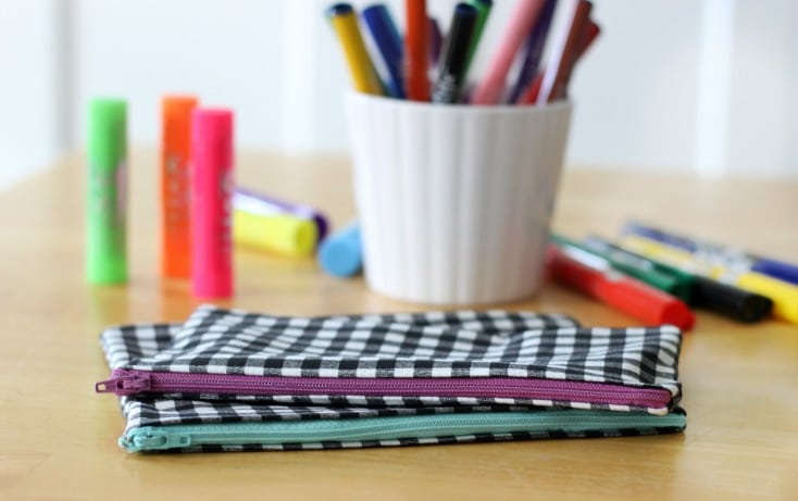 Sewing tutorial: 15-minute pencil pouch