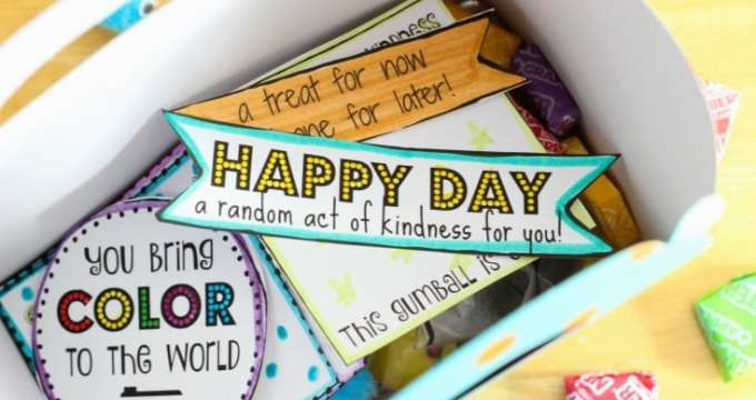 Random Acts of Kindness Printable Notes