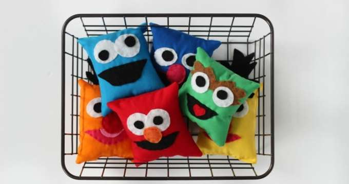 DIY Sesame Street Character Softies, Rice Packs, or Bean Bags