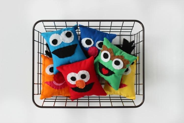 Tutorial: DIY Sesame Street Bean Bags