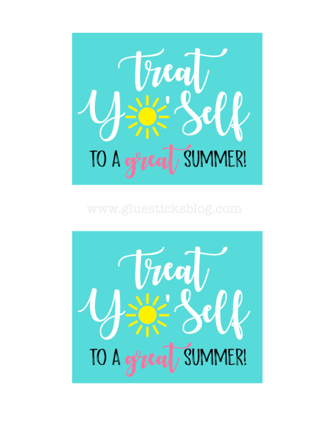 "Add this fun printable to a dessert in a mug kit for a fun birthday, teacher, or anytime gift idea! ""Treat Yo'Self !"" A quick 5 minute gift idea."