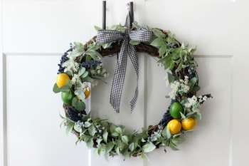 Citrus & Greenery Easy Wreath Tutorial: Make One for Summer!