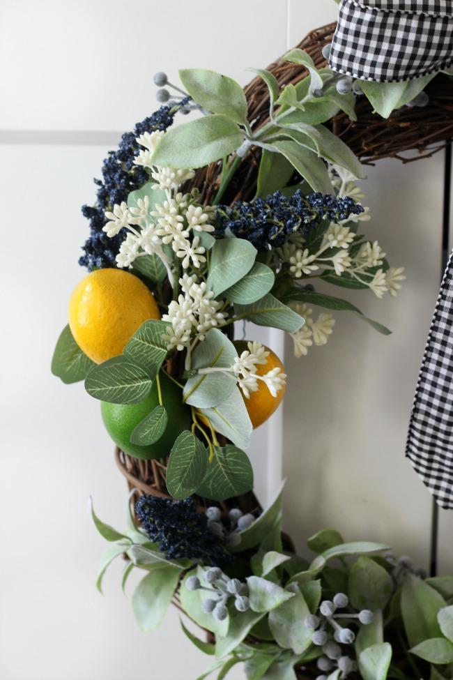 citrus wreath side shot