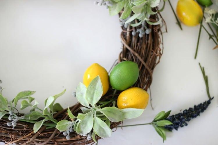 citrus picks in wreath