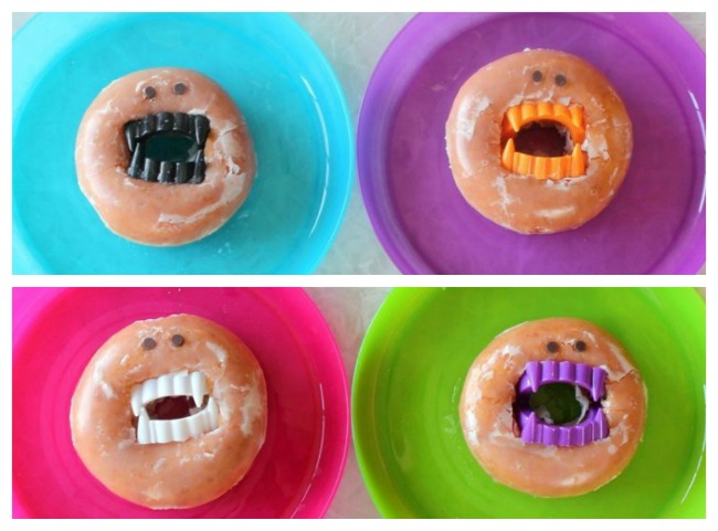 Are you ready to make the SILLIEST not-so-spooky Halloween treats? These vampire donuts come together in about 30 seconds. So easy and fun!