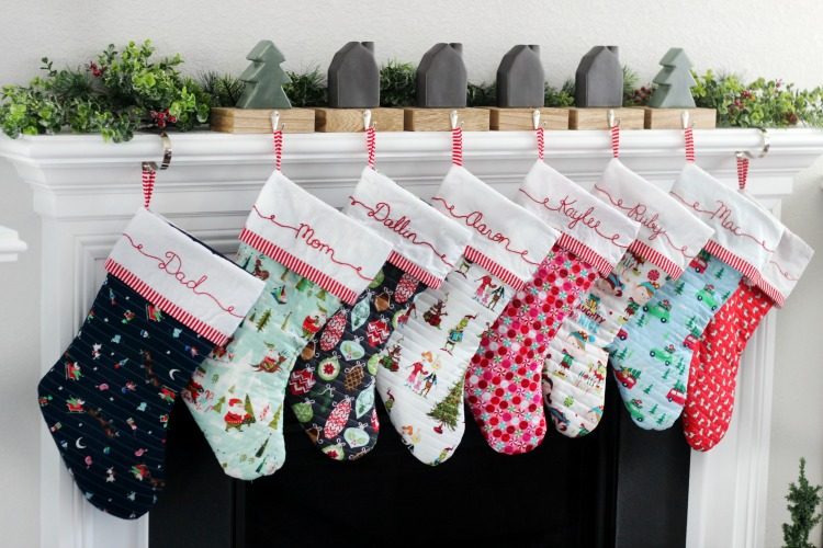 Make the family a set of quilted Christmas stockings! Let everyone choose their own fabric and tie everything together with coordinating trim!