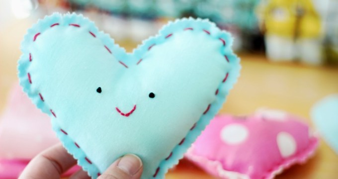 An Easy Sewing Project For Kids: Make a Heart Plushie!