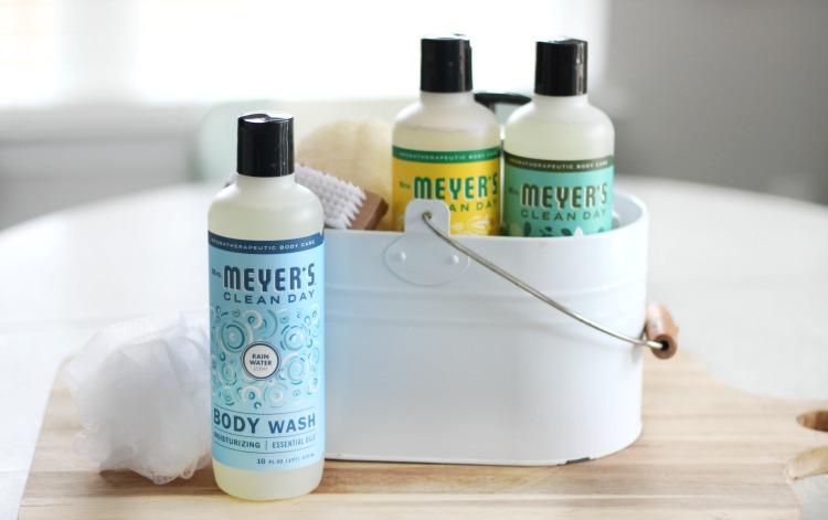 mrs. meyers body wash gift basket