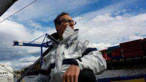 Skipper Eric sieht in der Ferne schon den Ozean