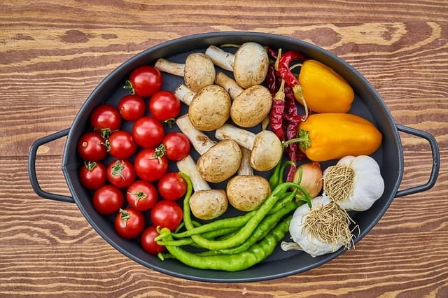 Fresh Raw Fruits and Vegetables