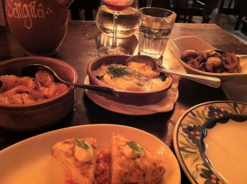 photo of the gluten free tapas at La Tasca