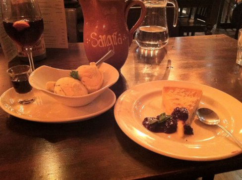 photo of the gluten free desserts at La Tasca