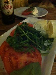 photo of mozzarella, tomato and basil