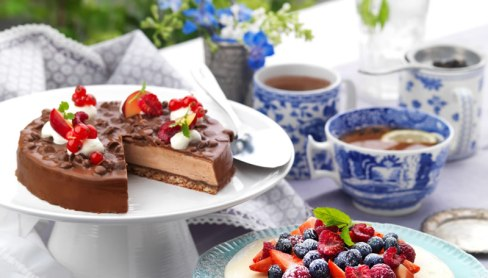 Almondy Cadbury Chocolate Mousse Cake
