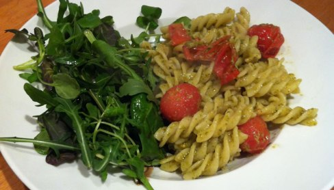 photo of the pesto and pasta dish