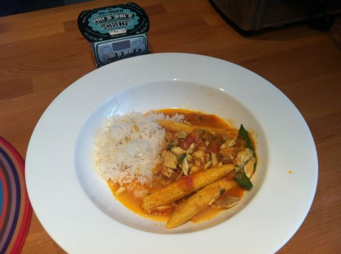 photo of our fish & vegetable gluten free curry