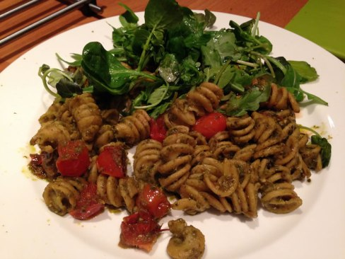 photo of a chickpea fusilli dish