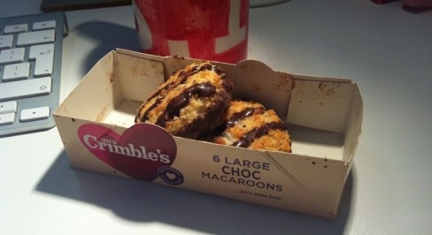 photo of Mrs Crimble's choc macaroons