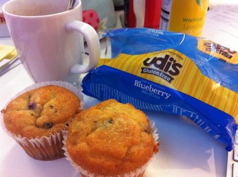 Udi's Gluten Free Blueberry Muffins