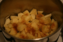 diced apples, ready to cook down for apple fritters