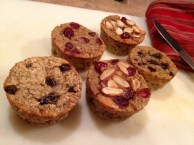 Individual Oat Muffins (Chocolate & Cranberry Almond)