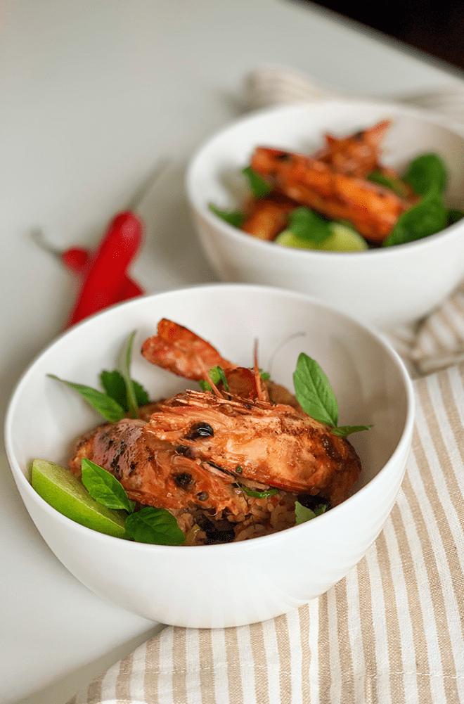 Tom Yum Rice With Prawns recipe Gluten Free Foodie