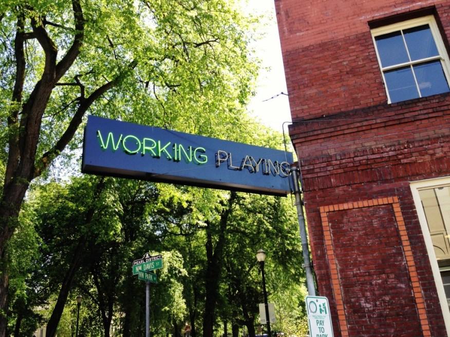 working playing