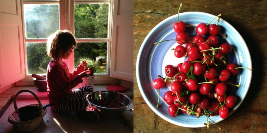 cherries in Italy collage