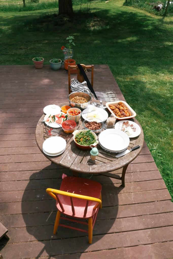 picnic wide shot