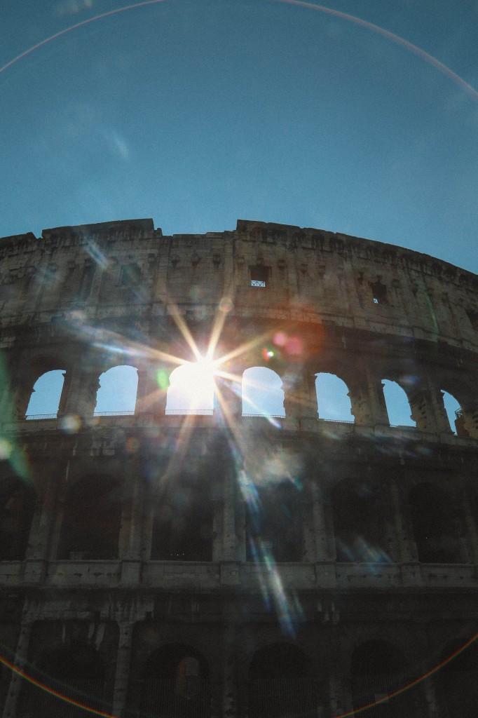 Coloseum sun flare