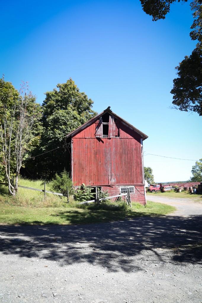 Hudson- red barns