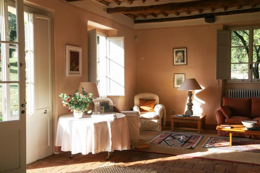 light in the living room_