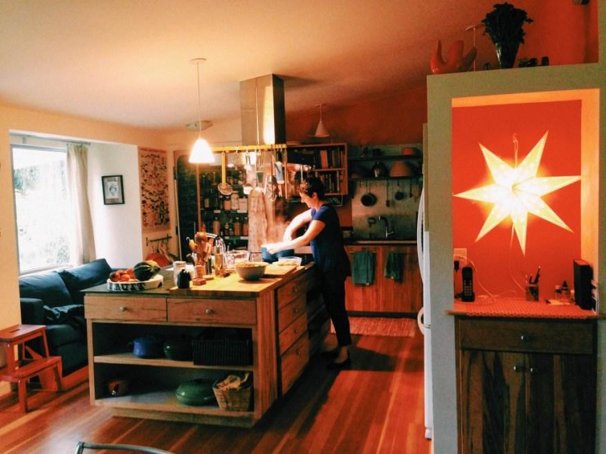 Berkshires- Alana in her kitchen