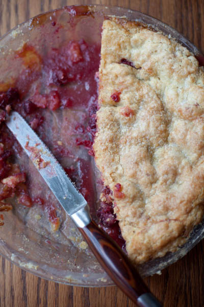 cranberry ginger pie