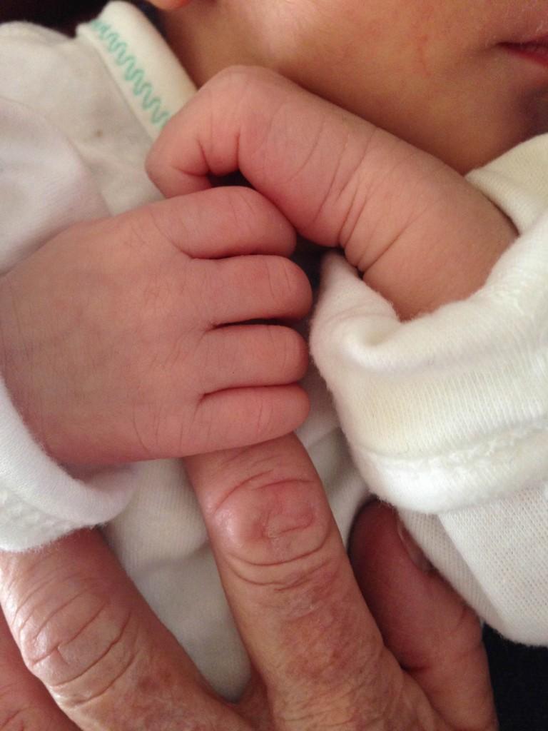 Desmond- hands with grandmother