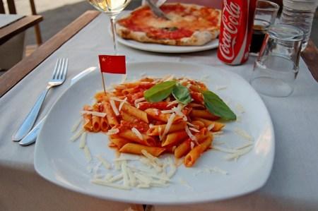 Gluten-free pasta at La Soffitta Renovatio Ristorante